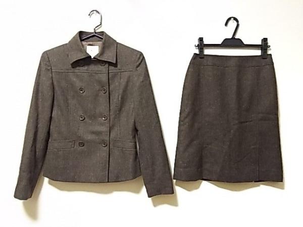 クミキョク スカートスーツ サイズ2 M レディース ダークブラウン×マルチ
