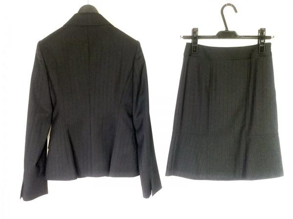 INDIVI(インディビ) スカートスーツ サイズ05 XS レディース美品  黒 ストライプ