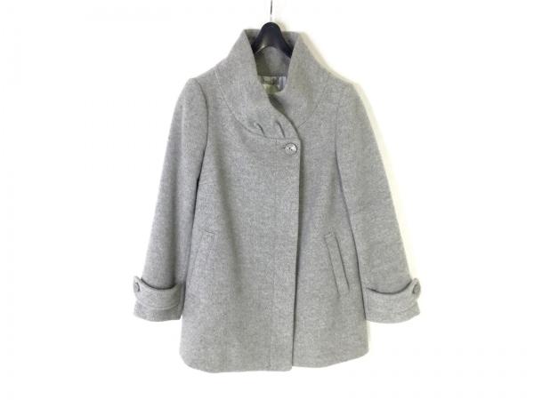 クミキョク コート サイズS2 レディース美品  グレー 冬物/ショート丈