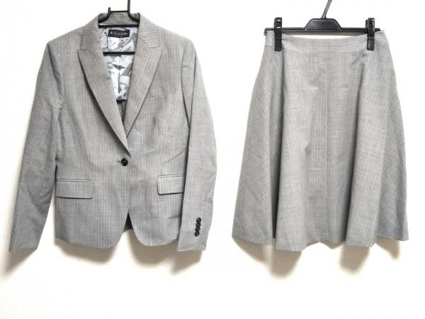 ブルックスブラザーズ スカートスーツ サイズ2 S レディース美品  ライトグレー