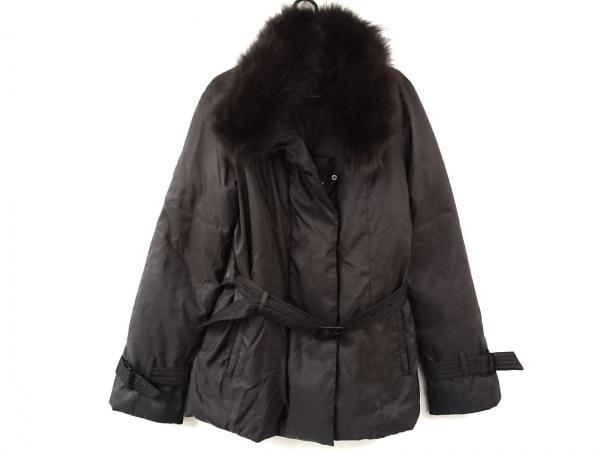 アンタイトル ダウンコート サイズ4 XL レディース美品  ダークブラウン 冬物