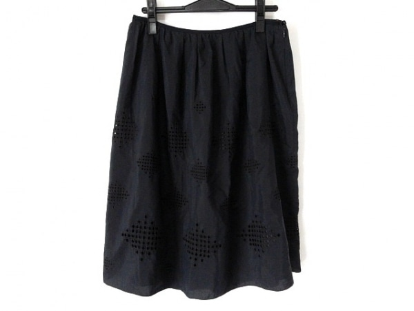 AMACA(アマカ) スカート サイズ40 M レディース美品  ダークネイビー