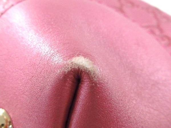 GUCCI(グッチ) トートバッグ ハートビット/シマライン 269956 ピンク レザー