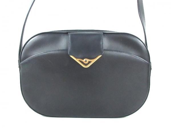 Cartier(カルティエ) ショルダーバッグ サファイアライン 黒 レザー
