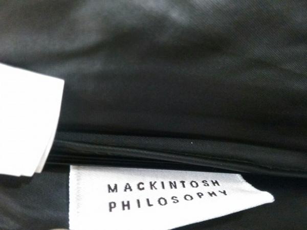 マッキントッシュフィロソフィー 折りたたみ傘 黒×白 ドット柄 化学繊維×金属素材