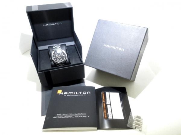 ハミルトン 腕時計 カーキパイロット パイオニアクロノ メンズ 黒 9