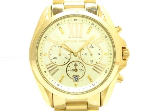 MICHAEL KORS(マイケルコース) 腕時計美品  ブラッドショー MK-5605 メンズ ゴールド