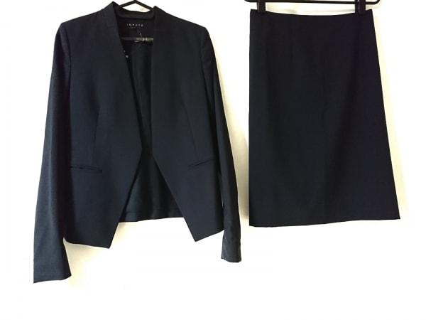 セオリー スカートスーツ サイズ0 XS レディース美品  ダークネイビー ノーカラー