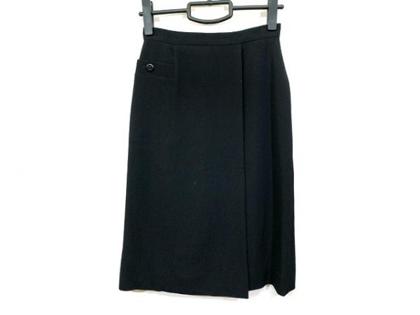 CHANEL(シャネル) スカート サイズ36 S レディース - - 黒 ひざ丈