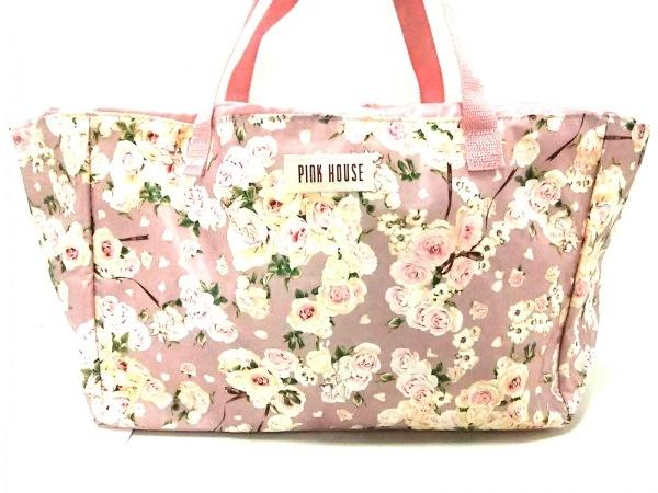ピンクハウス ボストンバッグ美品  - - ピンク×アイボリー×マルチ ナイロン