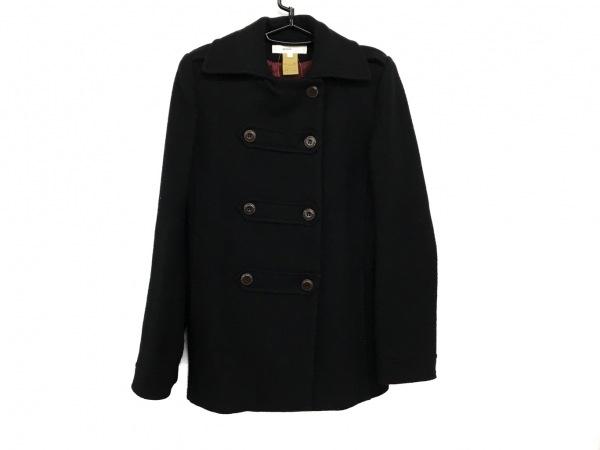 ヴァネッサブリューノ コート サイズ38 M レディース美品  黒 肩パッド/冬物