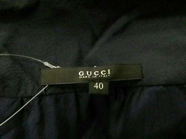 GUCCI(グッチ) ワンピース サイズ40 M レディース ネイビー