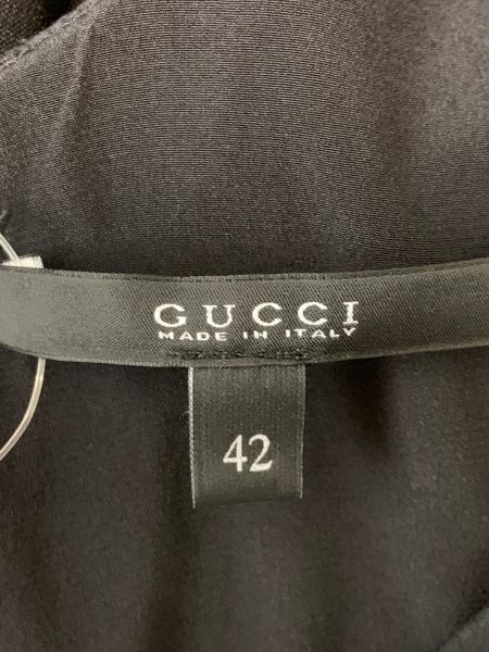 GUCCI(グッチ) ワンピース サイズ42 M レディース美品  黒