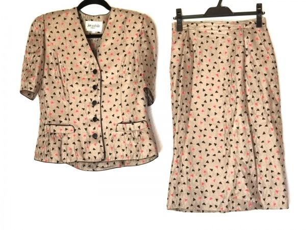 JUN ASHIDA(ジュンアシダ) スカートスーツ サイズ11 M レディース カーキ×黒×レッド