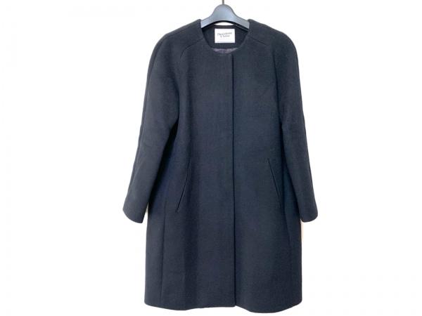 DEUXIEME CLASSE(ドゥーズィエム) コート サイズ38 M レディース 黒 ノーカラー/冬物