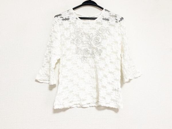 SHIZUKA KOMURO(シズカコムロ) 七分袖カットソー サイズ42 L レディース美品  白