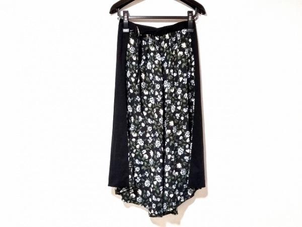 クラネ ロングスカート サイズ1 S レディース美品  黒×アイボリー×マルチ 花柄