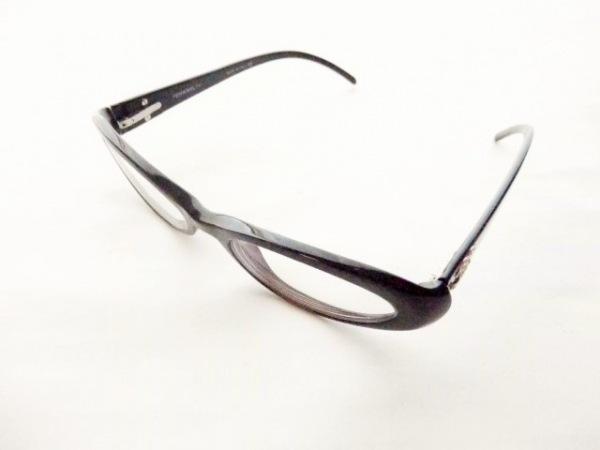 CHANEL(シャネル) メガネ 3024-B クリア×黒 度入り/ココマーク プラスチック