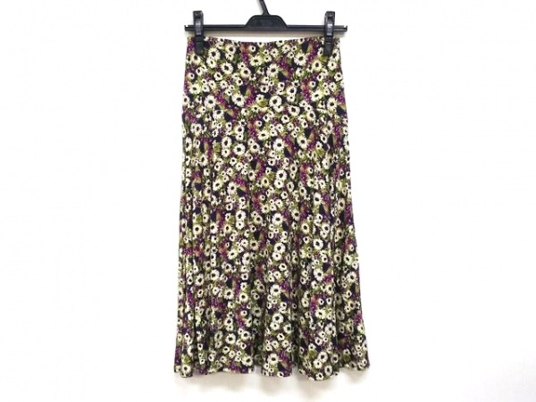 three dots(スリードッツ) ロングスカート サイズXS レディース美品  花柄