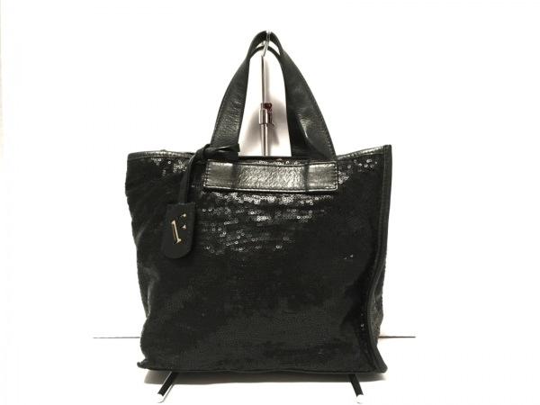 FURLA(フルラ) ハンドバッグ 黒 スパンコール×レザー