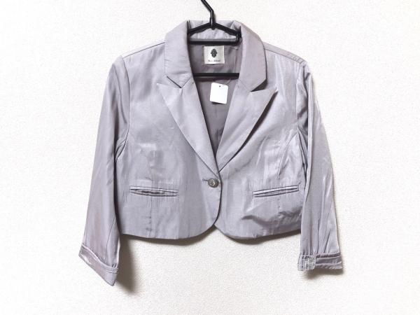 Bou Jeloud(ブージュルード) ジャケット サイズ38 M レディース美品  ライトグレー