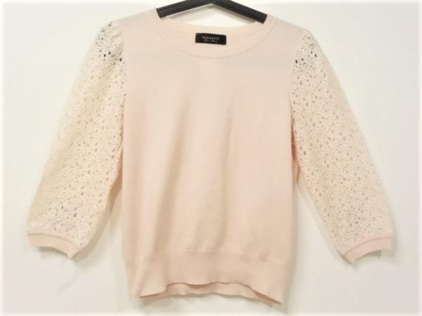 ジャスグリッティー 七分袖セーター サイズ2 M レディース美品  ピンク レース