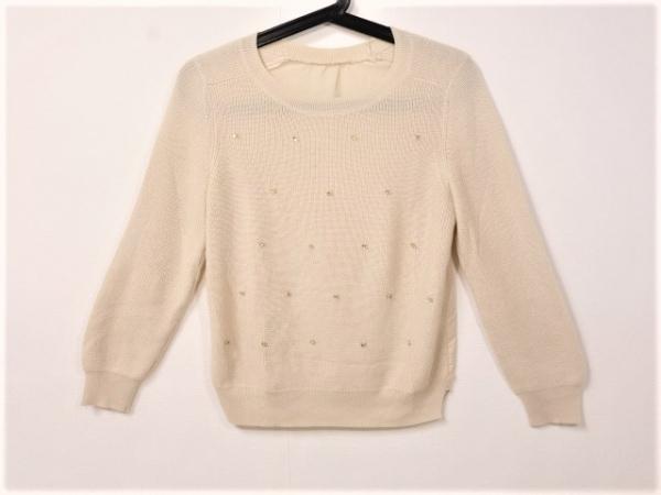JUSGLITTY(ジャスグリッティー) 長袖セーター サイズ2 M レディース美品  ベージュ