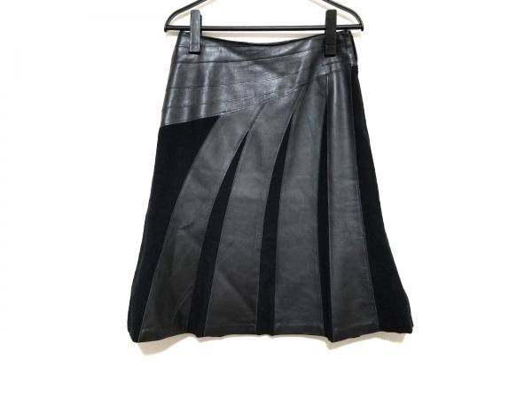 SONIARYKIEL(ソニアリキエル) スカート サイズ38 M レディース美品  黒 レザー