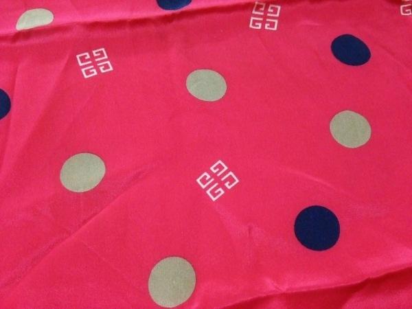 GIVENCHY(ジバンシー) スカーフ美品  ピンク×ダークネイビー×マルチ