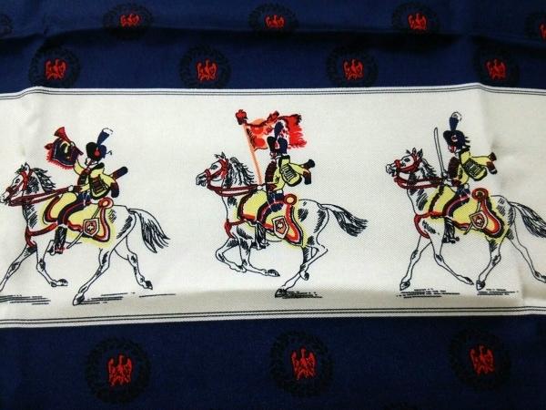 manipuri(マニプリ) スカーフ美品  ネイビー×アイボリー×マルチ