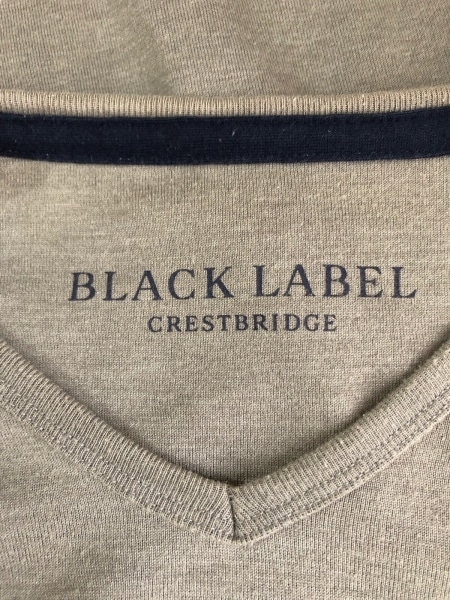 ブラックレーベルクレストブリッジ 長袖Tシャツ サイズ4 XL メンズ グレー