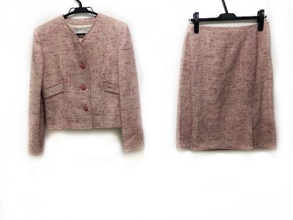 VALENTINO(バレンチノ) スカートスーツ サイズ8 M レディース アイボリー×ピンク