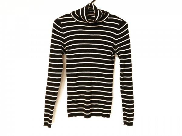 自由区/jiyuku(ジユウク) 長袖セーター サイズ38 M レディース 黒×アイボリー