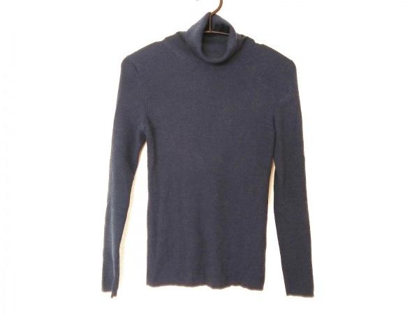 ジユウク 長袖セーター サイズ38 M レディース ネイビー タートルネック