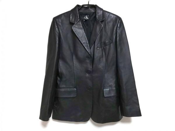 CalvinKlein(カルバンクライン) ジャケット サイズ4 XL レディース 黒 レザー