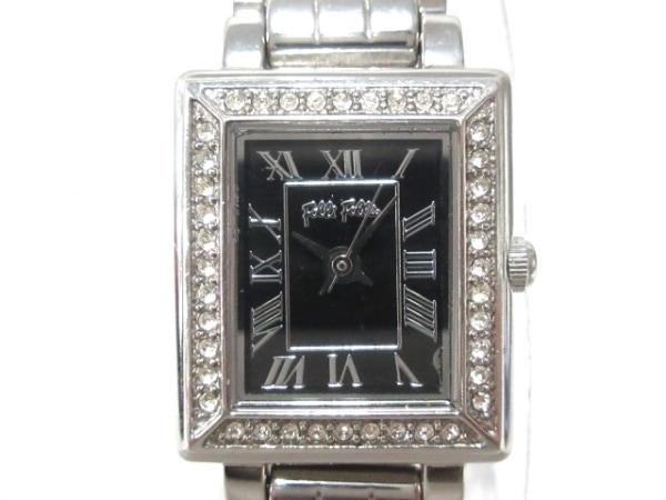 FolliFollie(フォリフォリ) 腕時計 WF7A028BP レディース ラインストーン 黒