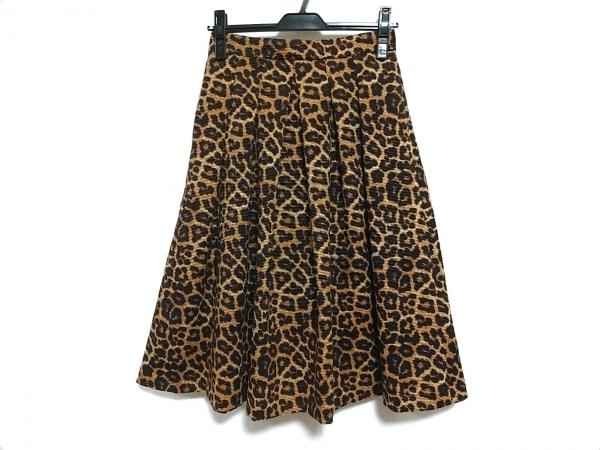 エストネーション スカート サイズ36 S レディース美品  ベージュ×ダークブラウン