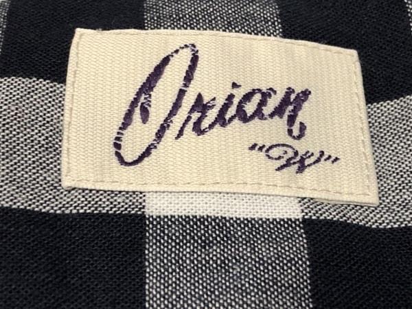 ORIAN(オリアン) 長袖シャツブラウス サイズ40 M レディース 白×黒 チェック柄