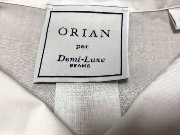 ORIAN(オリアン) 長袖シャツ サイズS メンズ 白 ORIAN per Dmi-Luxe BEAMS