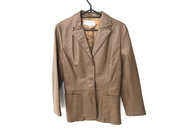 ヴァンドゥ オクトーブル ジャケット サイズ38 M レディース ブラウン レザー