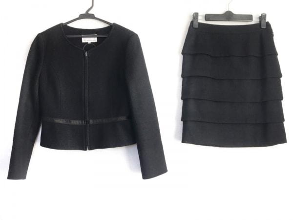 M-PREMIER(エムプルミエ) スカートスーツ サイズ36 S レディース 黒 ジップアップ