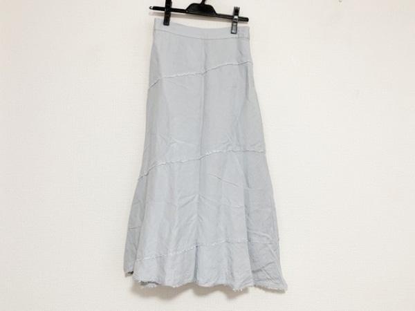 Mila Owen(ミラオーウェン) ロングスカート サイズ0 XS レディース美品  ライトブルー