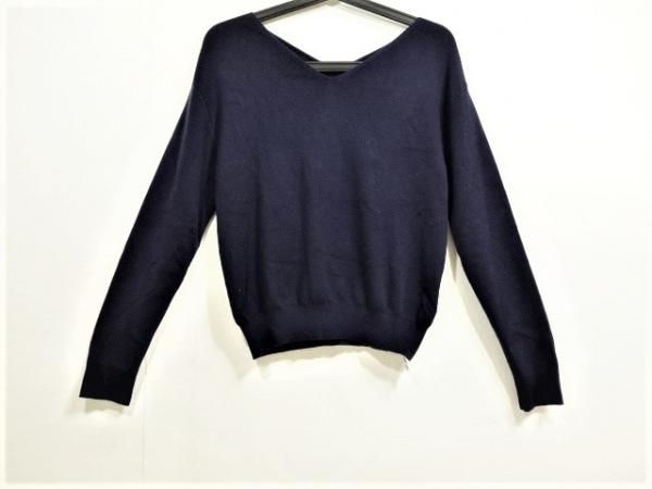 JUSGLITTY(ジャスグリッティー) 長袖セーター サイズ2 M レディース美品  ネイビー