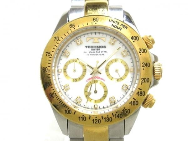 TECHNOS(テクノス) 腕時計 TGM640 メンズ 白