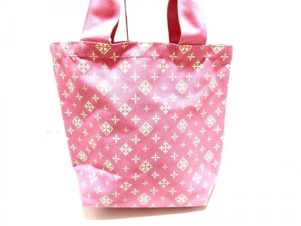 Daily russet(デイリーラシット) トートバッグ美品  ピンク×アイボリー キャンバス