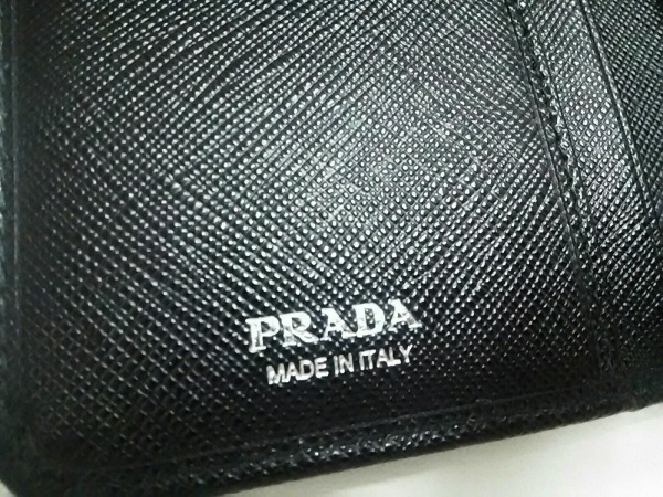 PRADA(プラダ) 2つ折り財布 - 1ML225 黒 ナイロン×レザー