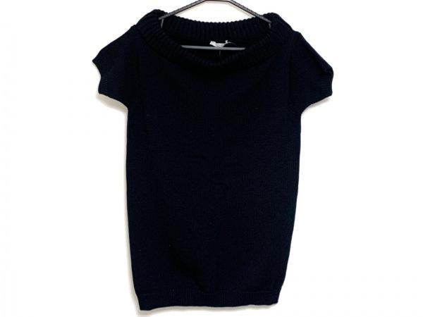 PRADA(プラダ) 半袖セーター サイズ40 M レディース 黒