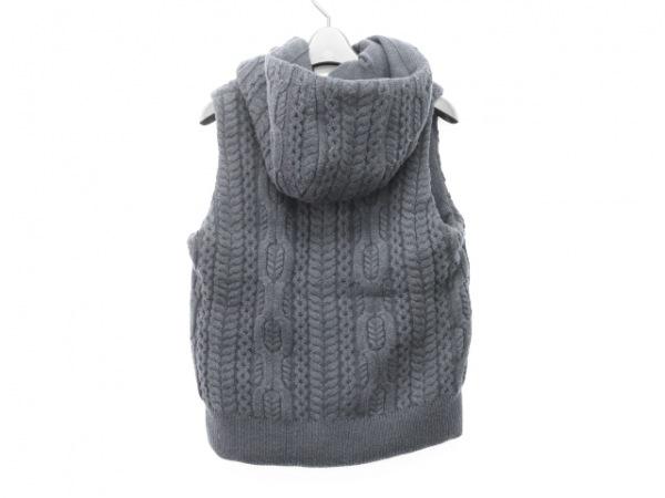 Lacoste(ラコステ) ダウンベスト サイズ36 S レディース美品  ネイビー 冬物/ニット