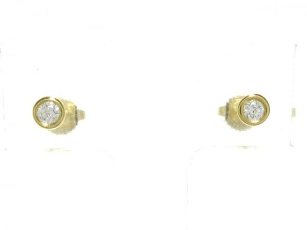 TIFFANY&Co.(ティファニー) ピアス美品  バイザヤード K18YG×ダイヤモンド