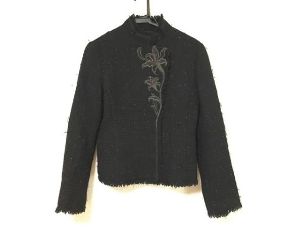 ヴィヴィアンタム ジャケット サイズ1 S レディース 黒×ダークグレー×マルチ 刺繍
